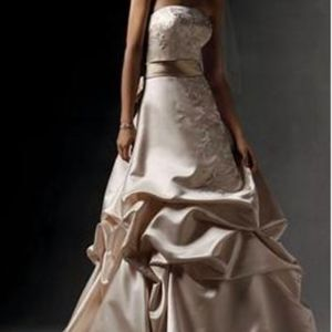 Oleg Cassini Wedding Dress / Crystal Head Piece